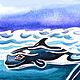 Print WHALE WATCHING    Img00014_2 by Penny Prior