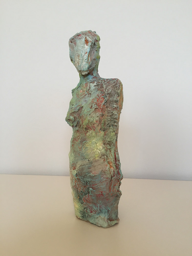 Painting Figure in Mint by Guy Grogan
