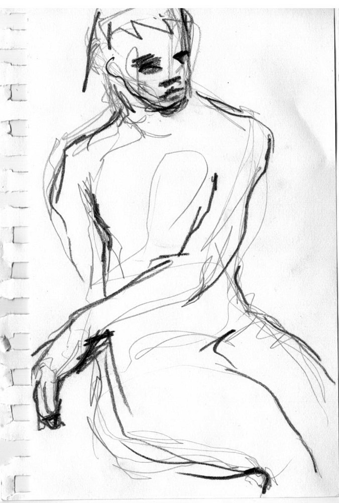 Drawing Figure Study #2 by Guy Grogan