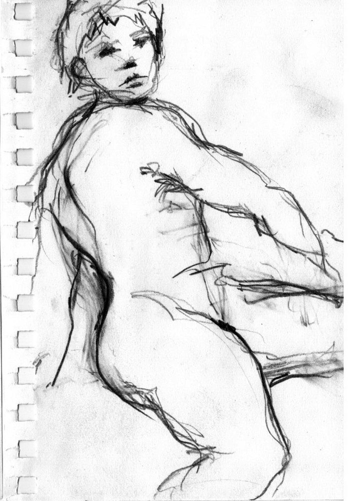 Drawing Figure Study #1 by Guy Grogan