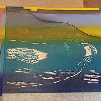 Print Printing Matrix for second run with stencil by Cathie Crawford
