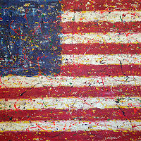 Acrylic painting Freedom.Flag by Jeffrey Newman
