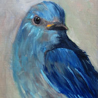 Oil painting Mountain Blue Bird by Barbara Haviland