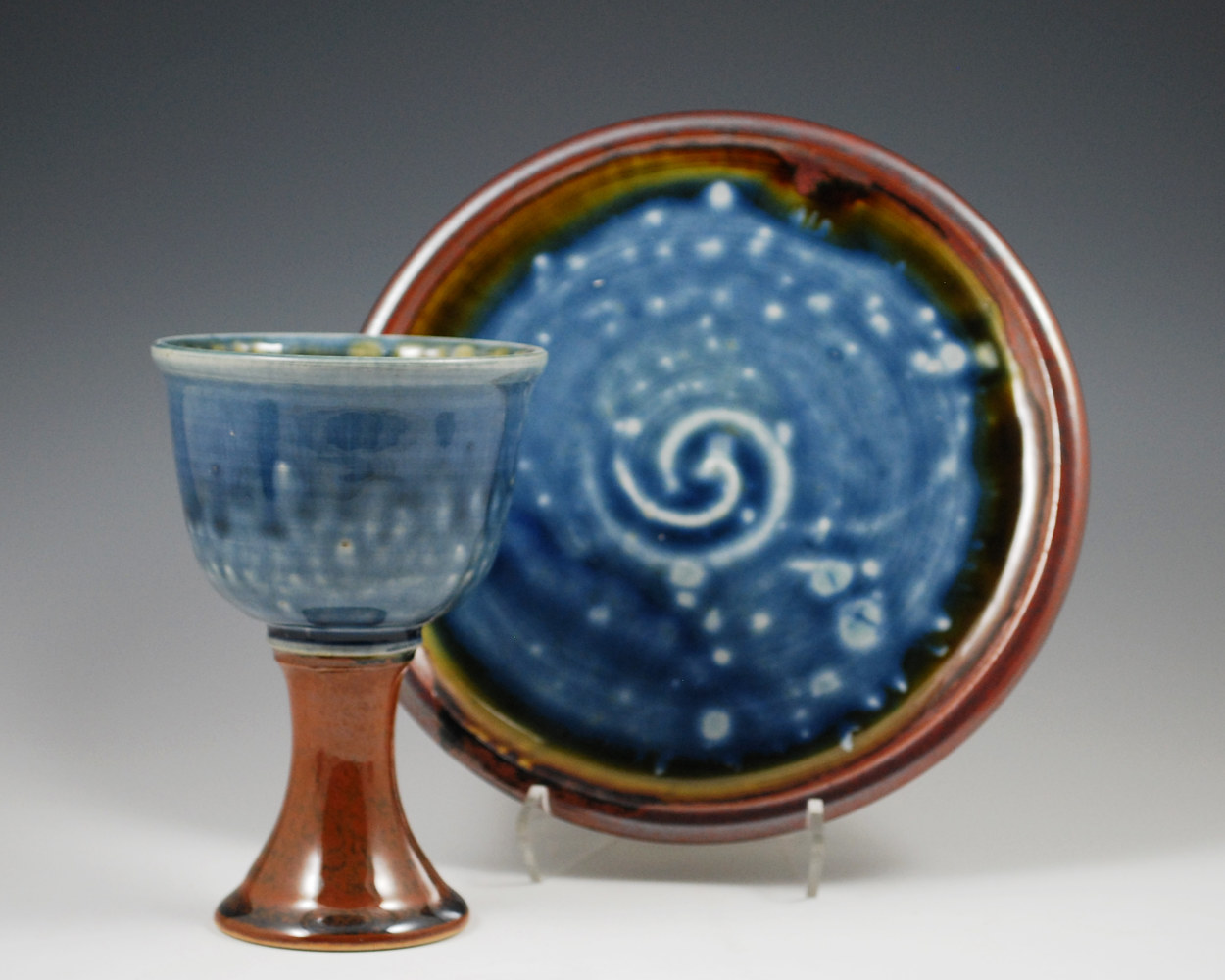 Chalice and Plate Set by Mark  Goertzen