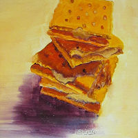 Oil painting Crackers by Marty Shively by David Eater