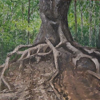 Oil painting Octupus Tree by Marty Shively by David Eater