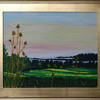 Acrylic painting Baskett Slough, Oregon-16x20 by Frans Geerlings