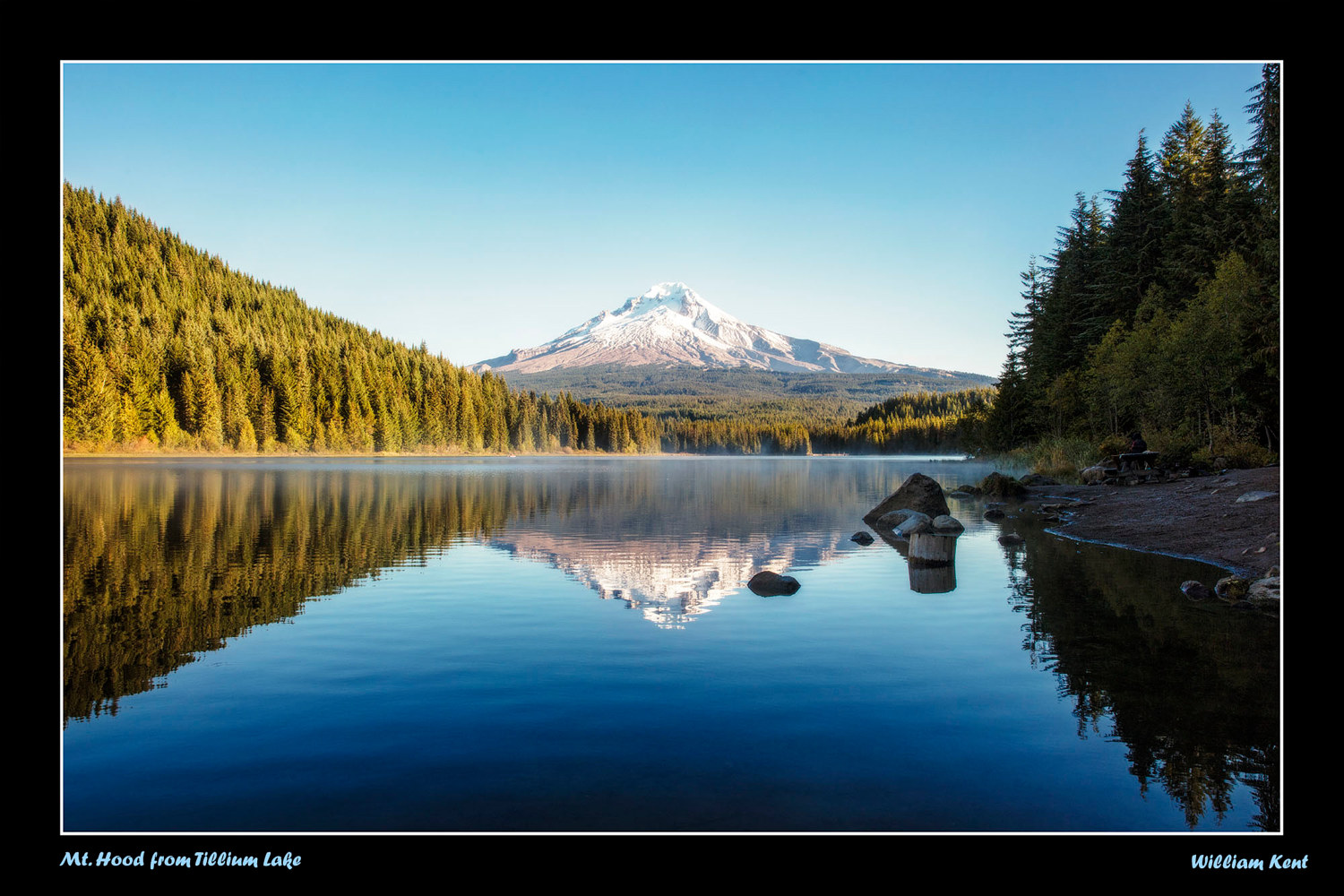 Mt Hood from Tillium Lake by William Kent
