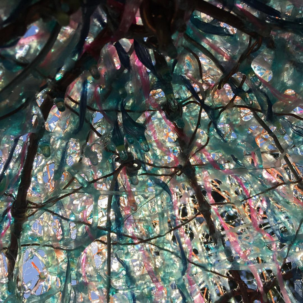 Fiberglass Menagerie Dome (detail from inside dome) by Steven Simmons