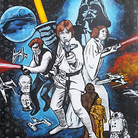 Acrylic painting STAR WARS by Carly Jaye Smith
