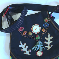 Wool Applique Purse by Alison Lang