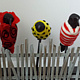 ceramic Crows in Sweaters by Valerie Johnson