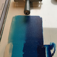 Blended roll with hand brayer by Cathie Crawford