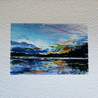 Watercolor Evening Closure by Wanda Hawse