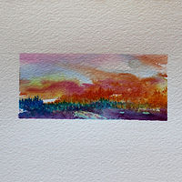 Watercolor Island Lake #2 by Wanda Hawse
