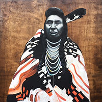 Acrylic painting Chief Joseph by Stuart  Sampson