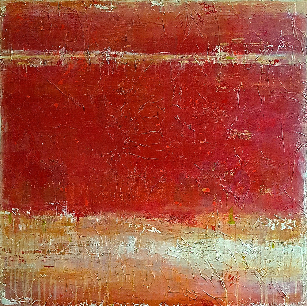 Acrylic painting Rustic Reds by Laura Spring