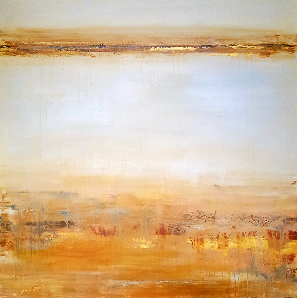 Acrylic painting Amber Dunes  by Laura Spring