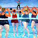 Oil painting Aqua Class  by Jodi Jansons