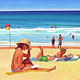 Oil painting Beach Day  by Guntis Jansons