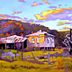 Oil painting Deserted House at Payne's crossing by Guntis Jansons