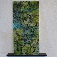 Wall Hanging, Fractal Series, Kiln-formed Glass by Claudia Whitten
