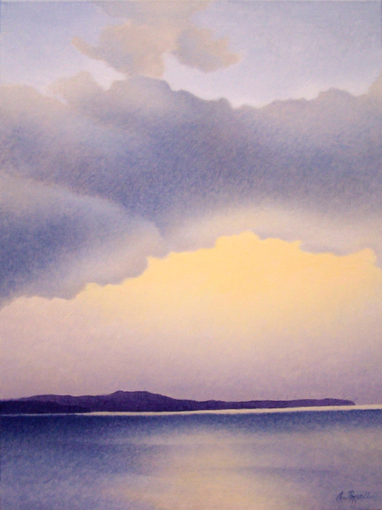 Acrylic painting December Sky by Anne Popperwell