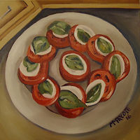 Painting Craig's Caprese Nov 7 2016 by Michelle Marcotte