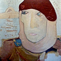Oil painting The Lady In The Red Beret by Patricia Rain Gianneschi