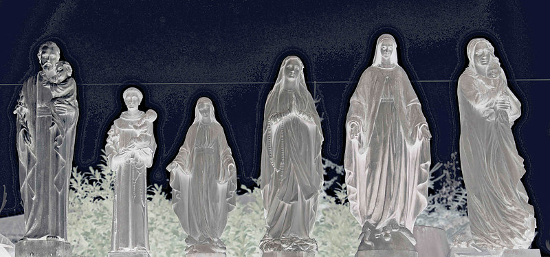 """Four Mary's, Three Jesus's, One Joseph, One Pedophile Priest"" by Hunter Madsen"