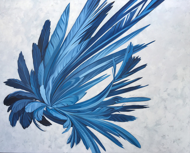Oil painting Blue Hybrid #2 by Robert Porazinski