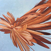 Oil painting Orange Hybrid by Robert Porazinski