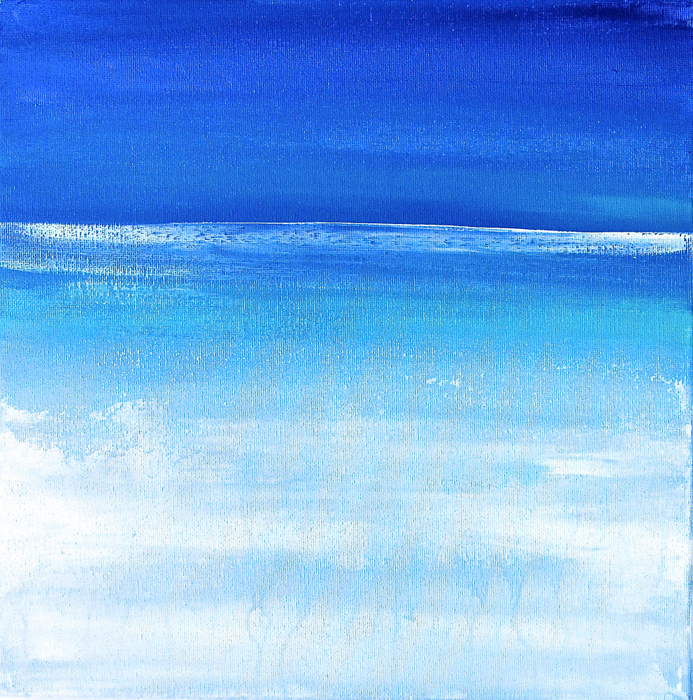 Acrylic painting Nautical Horizon 1 by Laura Spring