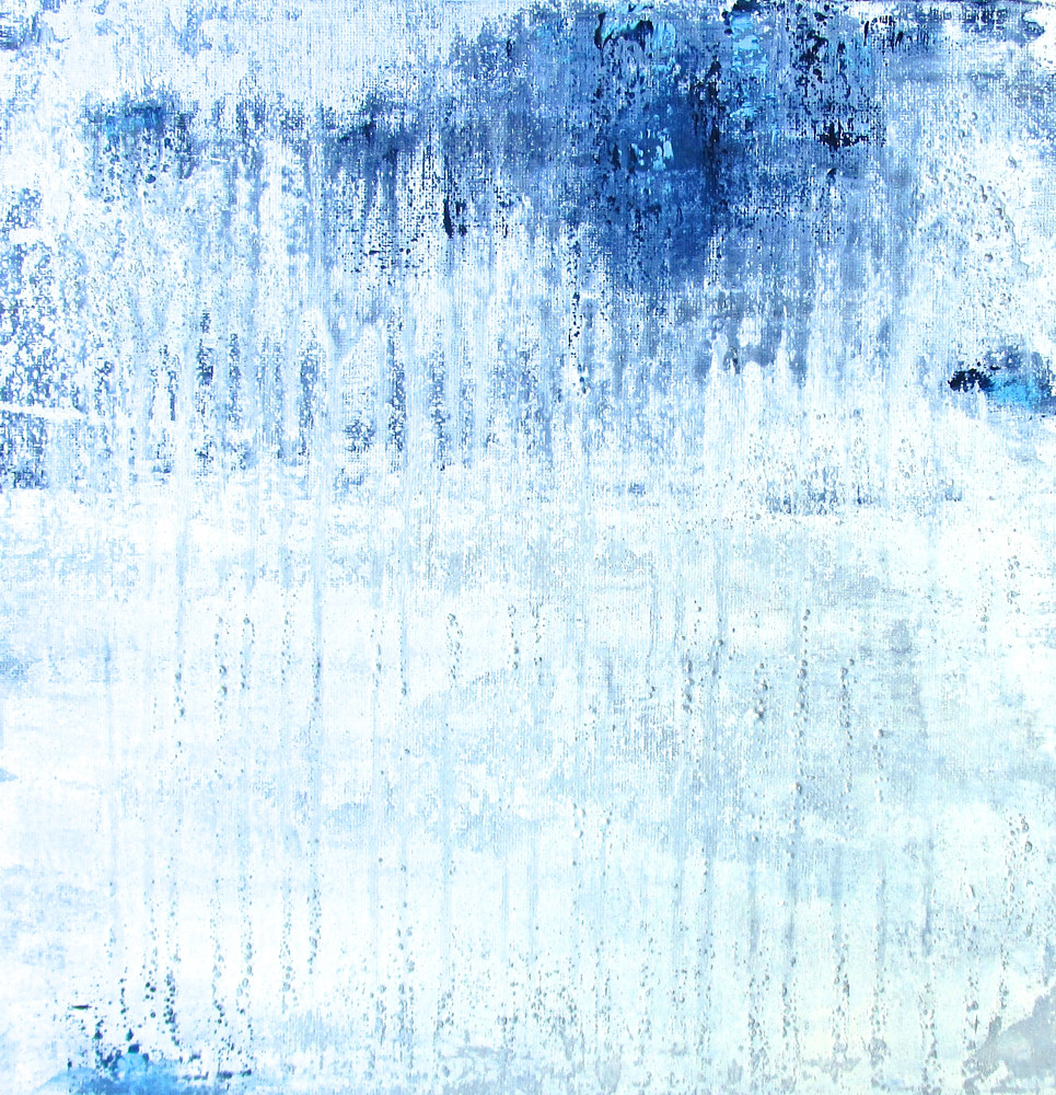 Acrylic painting Minimal Silver by Laura Spring