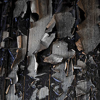 """Peeling Barracks Wall (homage to Aaron Siskind)"" by Hunter Madsen"