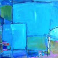 Acrylic painting The Blues by Sarah Trundle