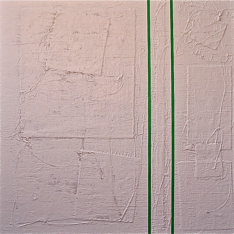 "Acrylic painting #2. Radiant Green: 2013. 36"" x 36"" by John Turner"