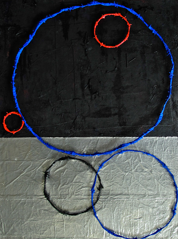 "Painting RING Painting #2. 2015. 36"" x 48"" by John Turner"