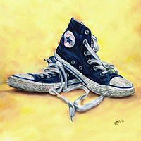 Oil painting Converse All Stars by Richard Mountford