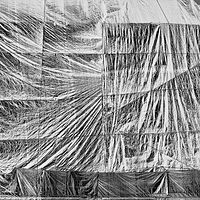"""Construction Tarp, Four Stories High"" by Hunter Madsen"