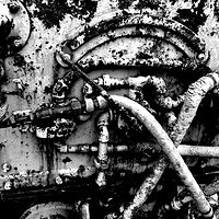 """Corroded Mining Equipment"" by Hunter Madsen"