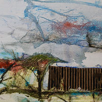 Mixed-media artwork Corrugated by Steve Latimer