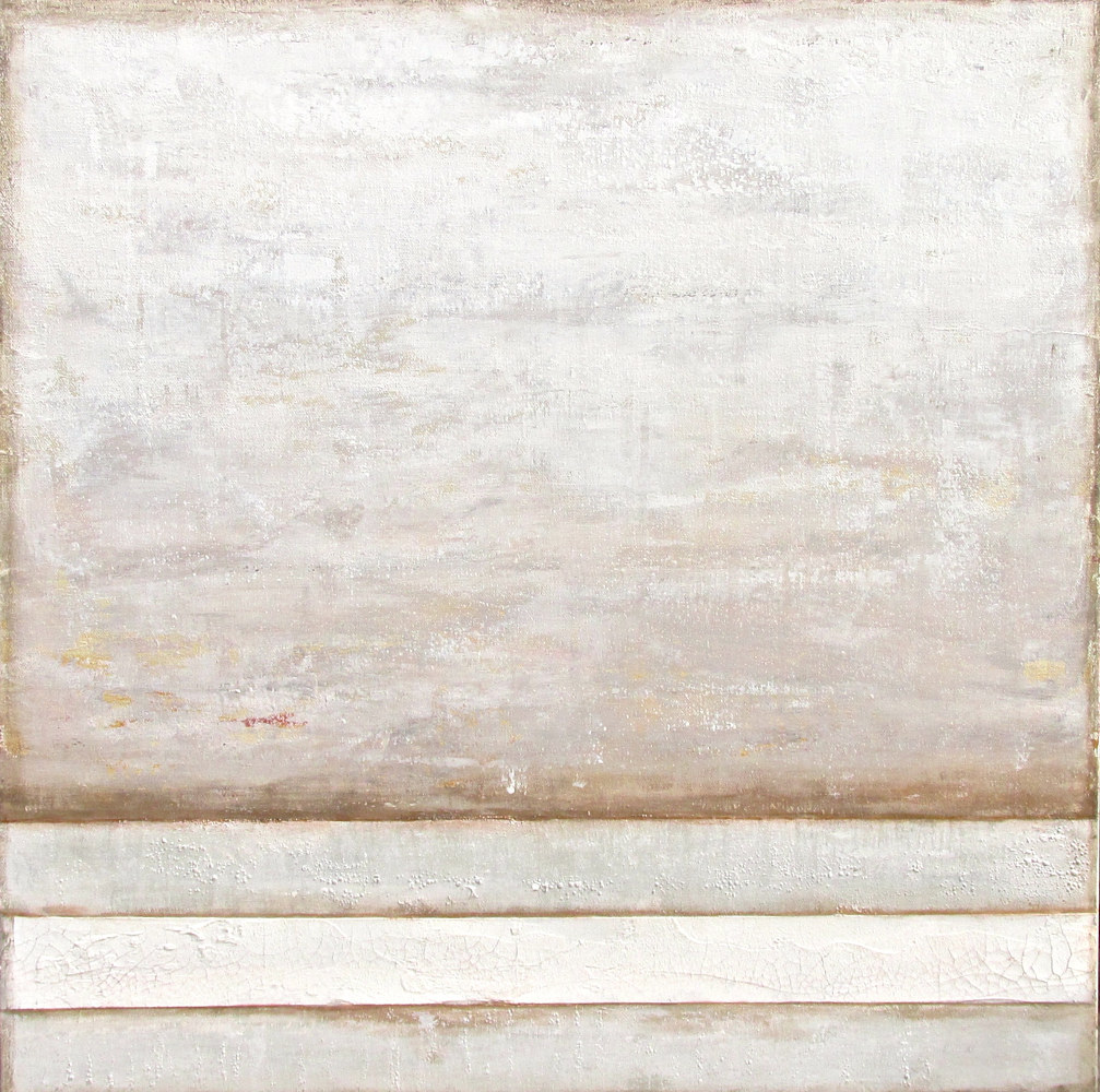 Acrylic painting Neutral Territory by Laura Spring