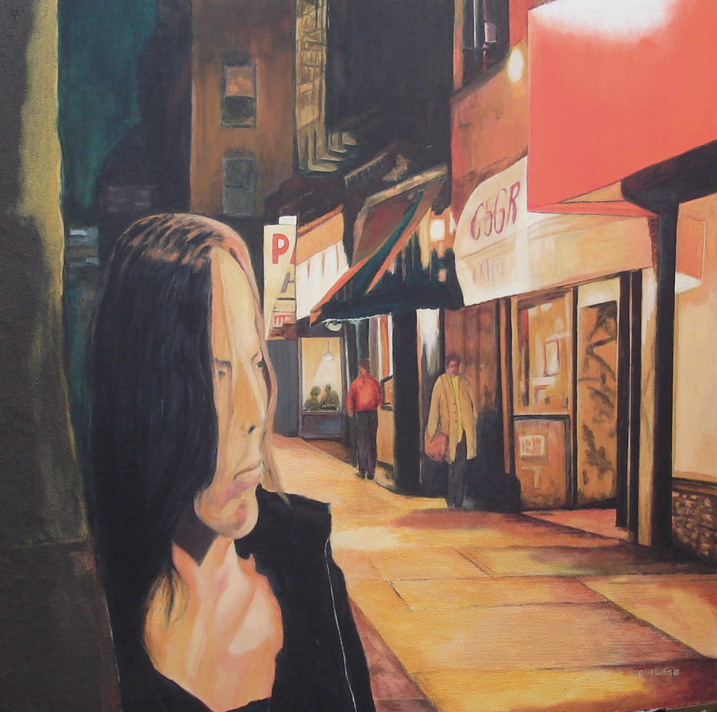 Acrylic painting The Street by Rick Gillis