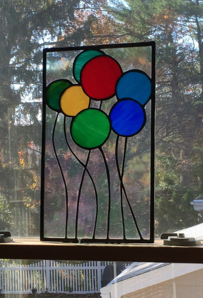Balloons Stained Glass