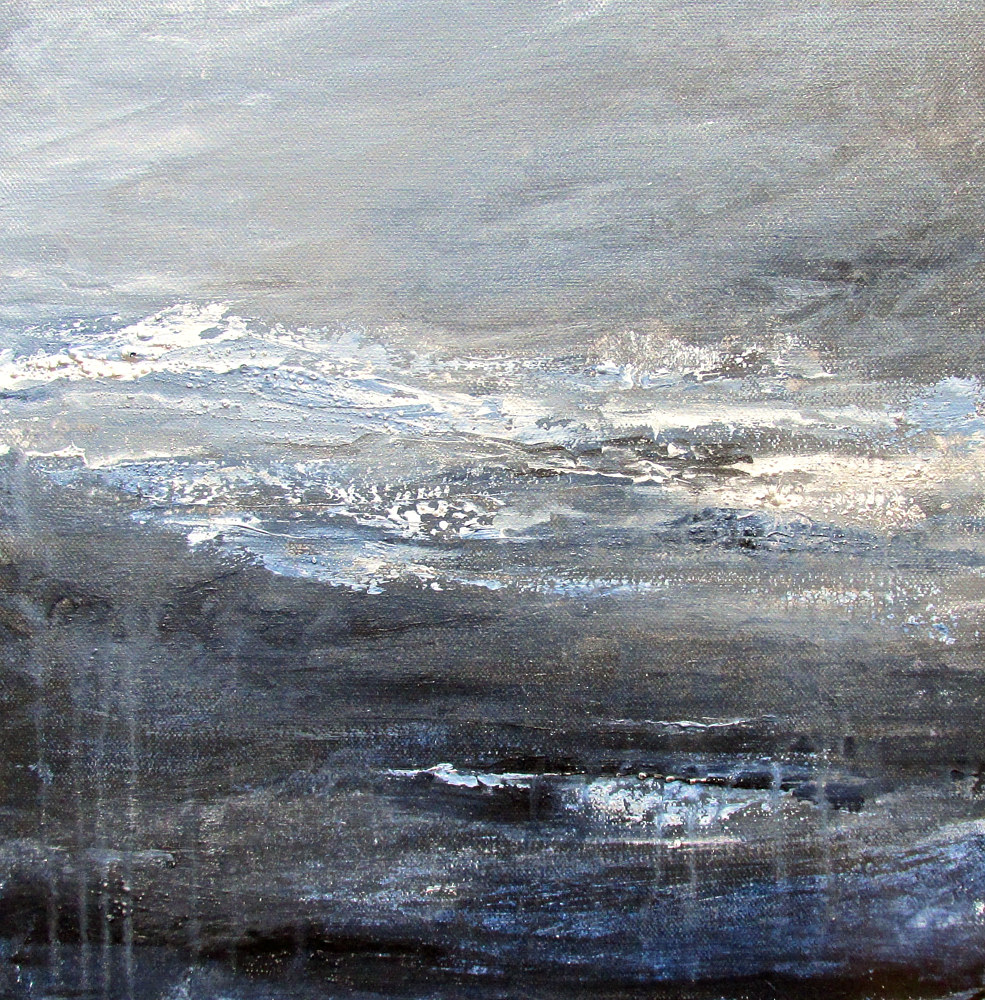 Acrylic painting Bracing for the Storm by Laura Spring