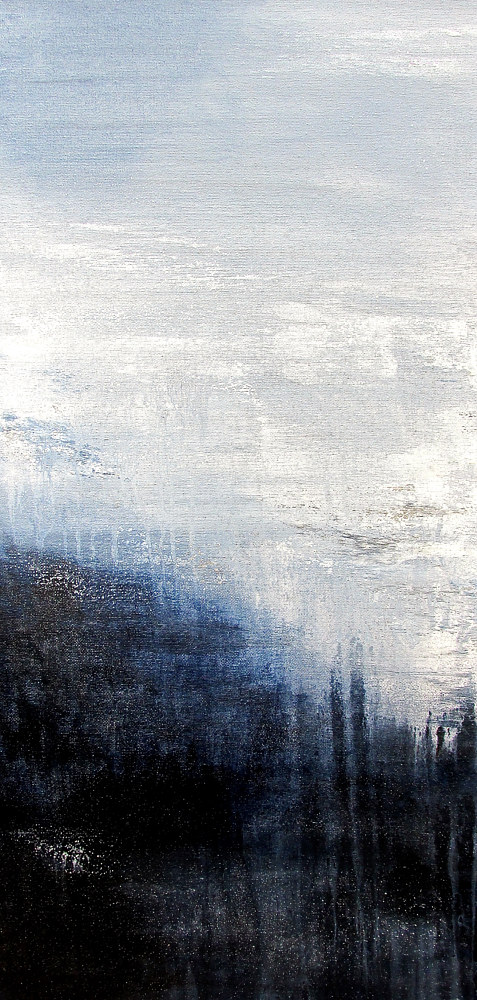 Acrylic painting Shimmering Dusk 2 by Laura Spring