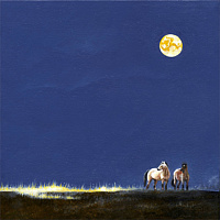 Painting Prairie Moon by Ron Straight