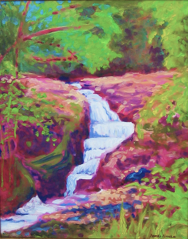 "Oil painting ""Sanctuary"" Twin Falls area by Pamela Neswald"