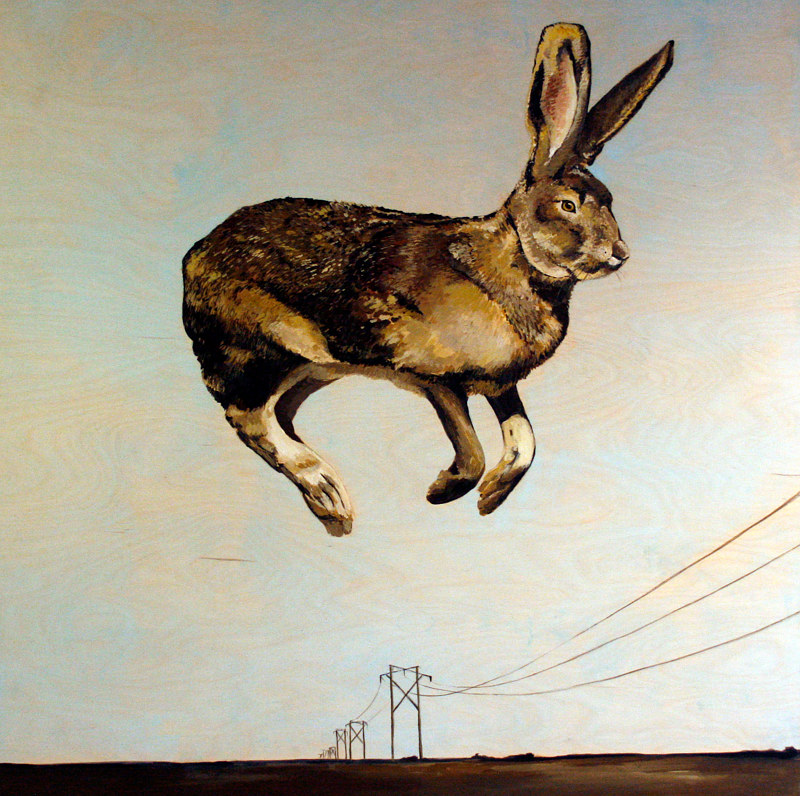Acrylic painting Jumping Jack by Belinda Harrow